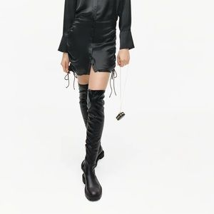 ZARA Over the Knee Leather Boots